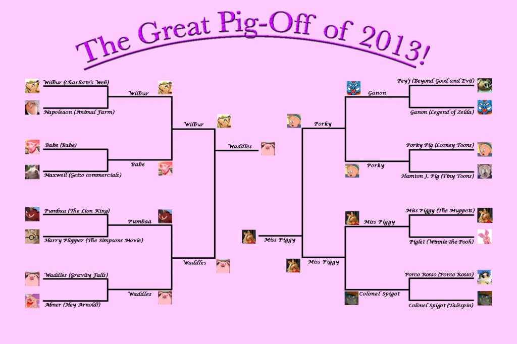 The final round of the Great Pig-Off