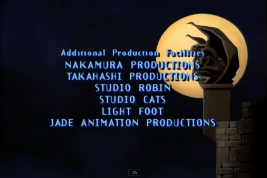 Gargoyles Animation Studios List